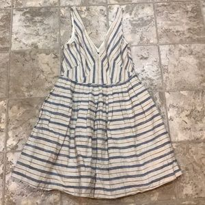 JCrew Striped linen dress